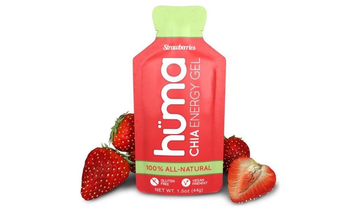 Huma Chia Energy Gel - Flavor: Strawberry - Size: Box of 24, Strawberry, large, image 1