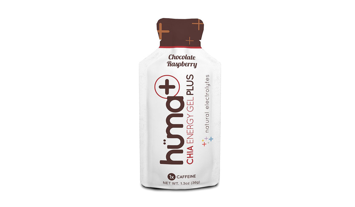 Huma Plus Chia Energy Gel - Flavor: Chocolate Raspberry - Size: Box of 24, Chocolate Raspberry, large, image 1