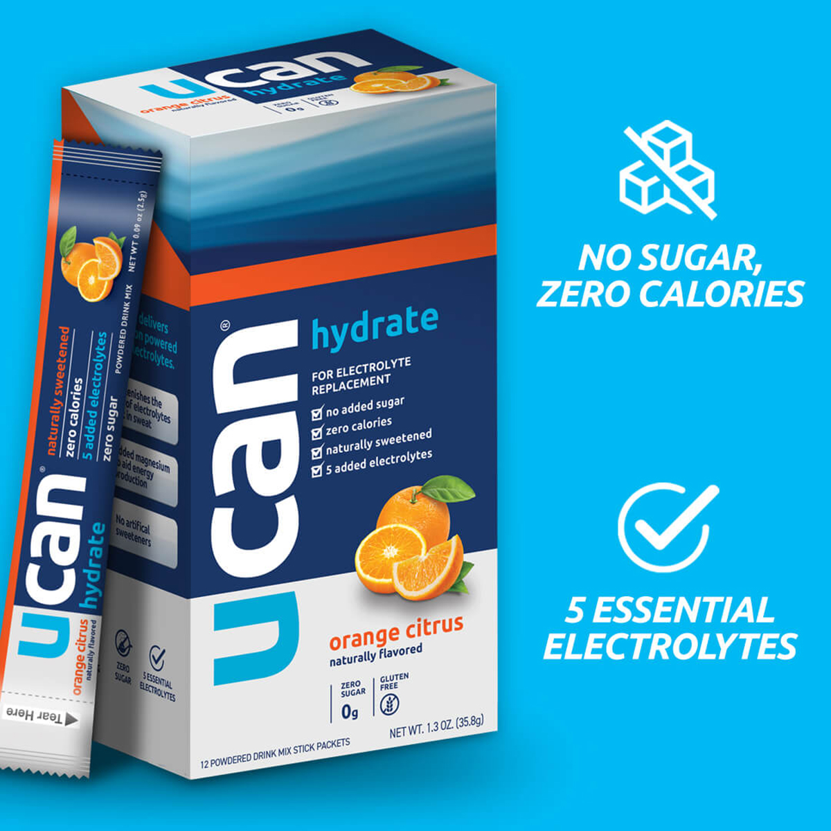 Ucan Hydrate - FlavorOrange Citrus, Orange Citrus, large, image 2