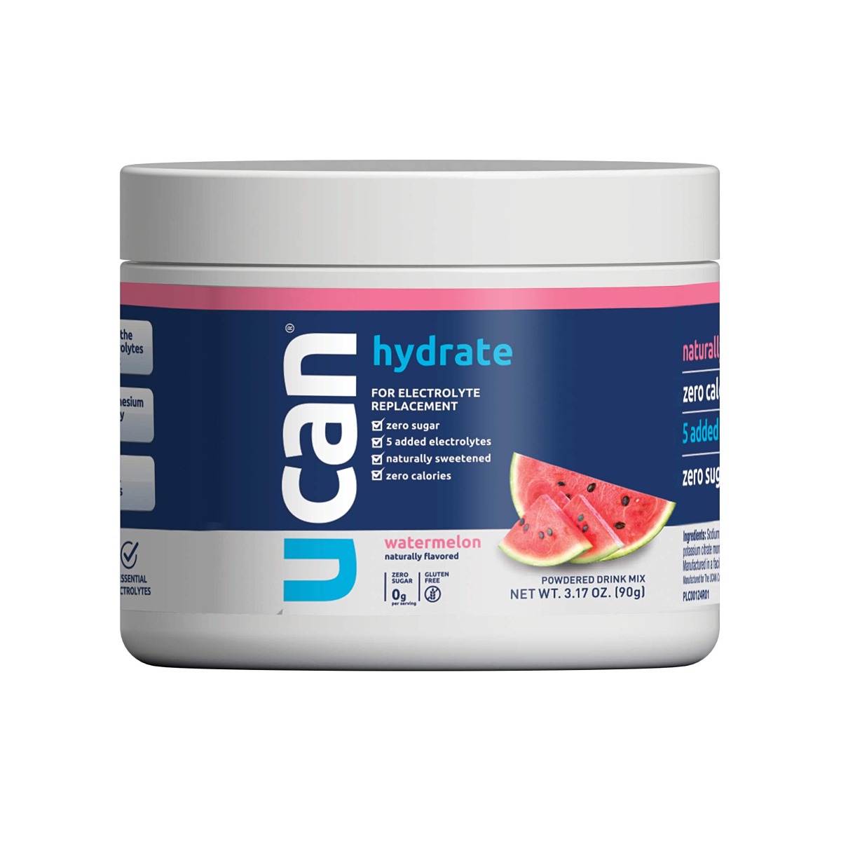 Ucan Watermelon Hydrate 30 Serving  - Color: Watermelon - Size: One Size, Watermelon, large, image 1