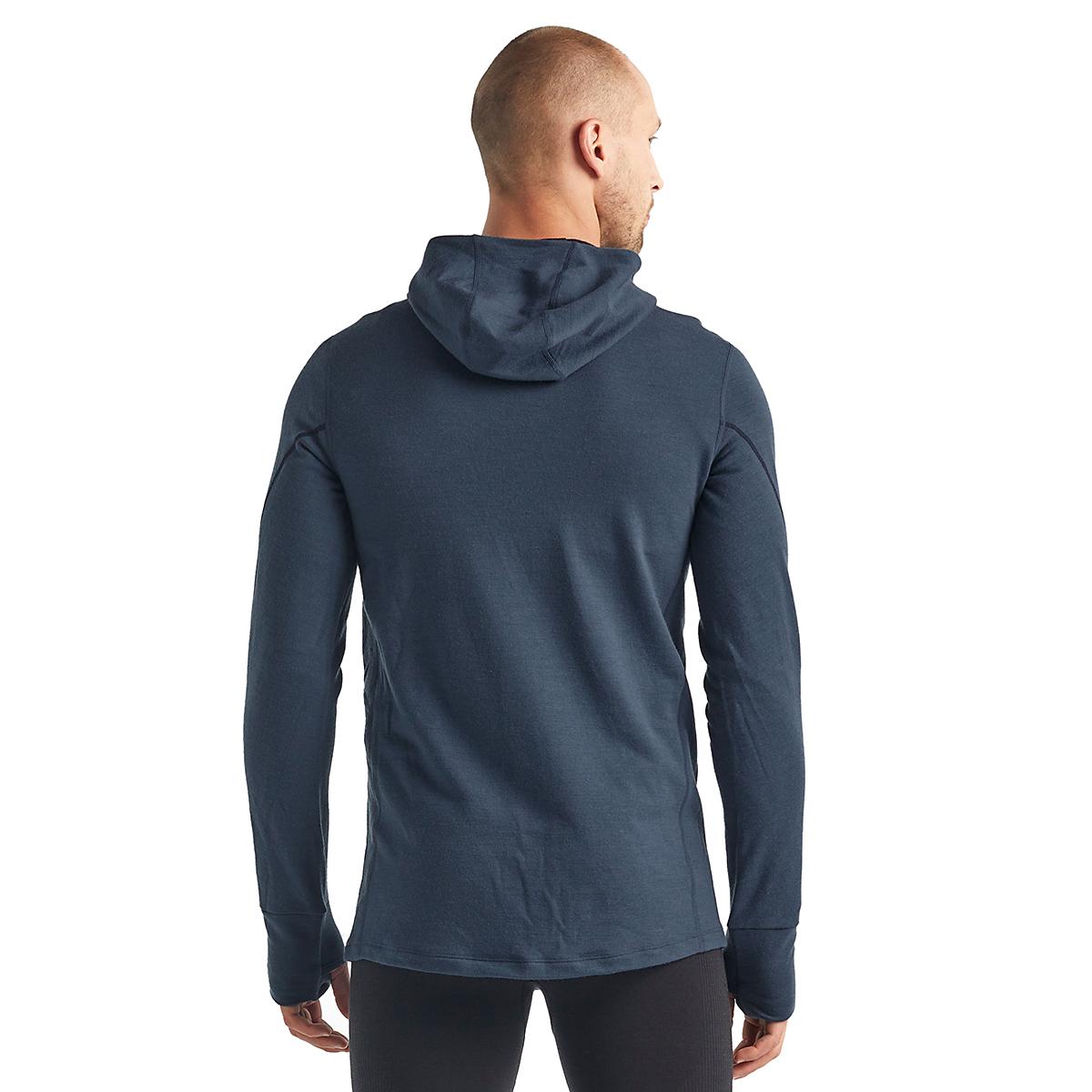 Men's Icebreaker Merino Quantum II Long Sleeve Zip Hood Jacket - Color: Serene Blue - Size: S, Serene Blue, large, image 2