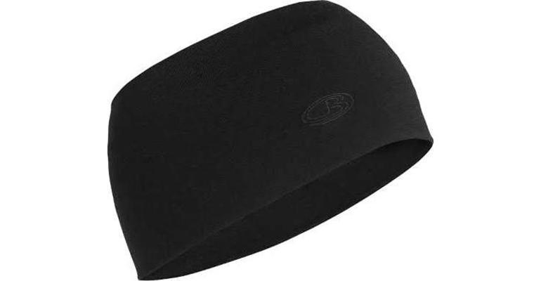Unisex Icebreaker Chase Headband - Color: Black - Size: One Size, Black, large, image 1