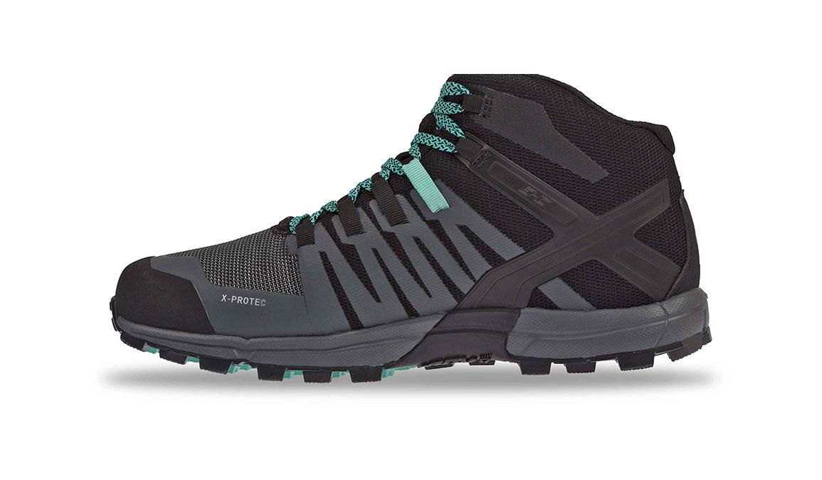 Women's Inov-8 Roclite 320 Gore-Tex Trail Running Shoe - Color: Black/Grey/Teal (Regular Width) - Size: 6.5, Black/Teal, large, image 2