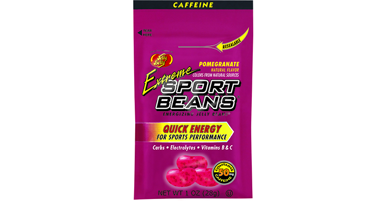 Jelly Belly Sports Beans with Caffeine - Flavor: Extreme Pomegranate - Size: Box of 24, Extreme Pomegranate, large, image 1
