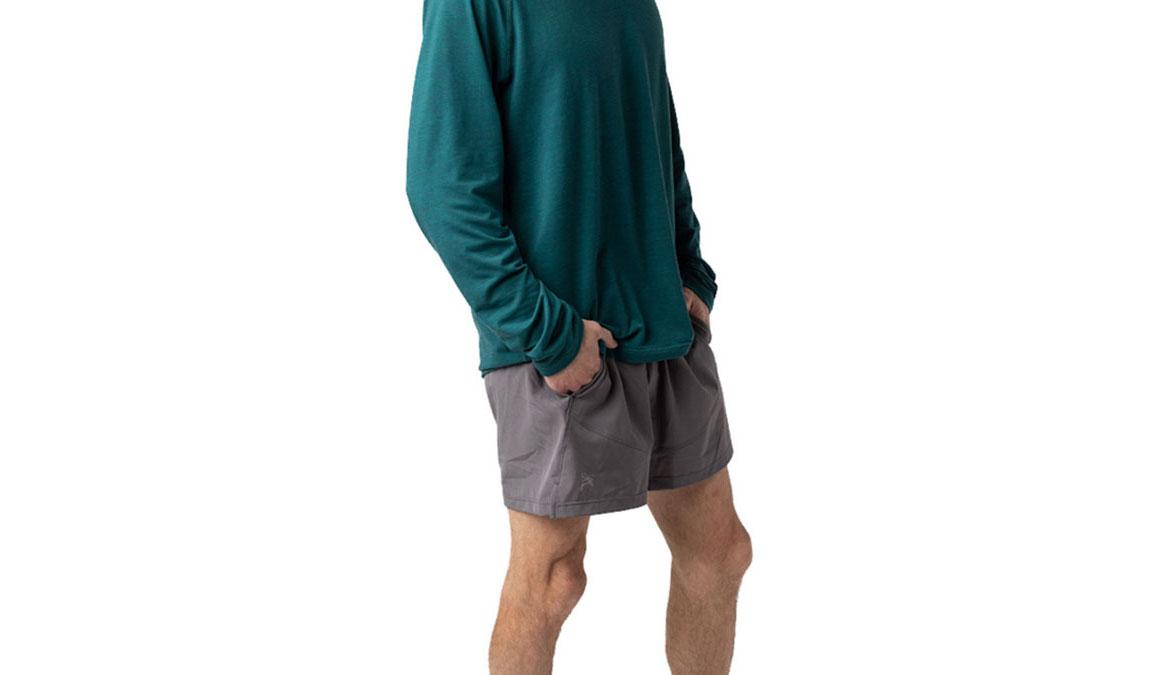 Men's Jackrabbit 5'' Run Shorts - Color: Charcoal Grey Size: S, Grey, large, image 1