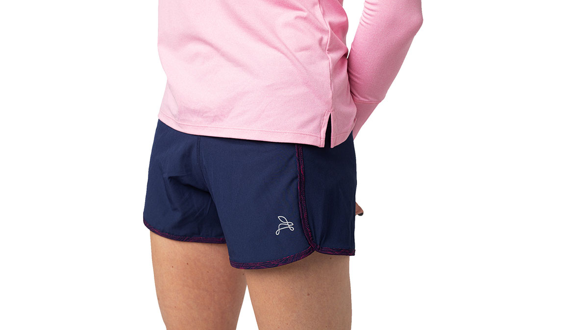 Women's Jackrabbit 3'' Short - Color: Navy/Pink Size: XS, Blue, large, image 1