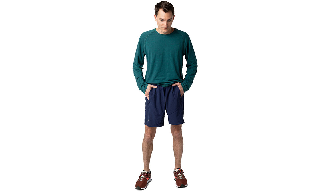 Men's Jackrabbit 7'' Run Shorts  - Color: Navy Size: S, Blue, large, image 1