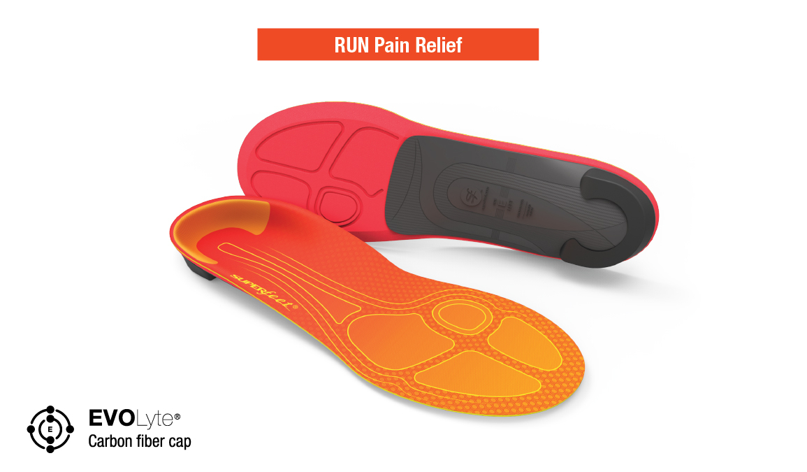 Superfeet RUN Pain Relief - Color: Tangerine Size: C, Tangerine, large, image 3