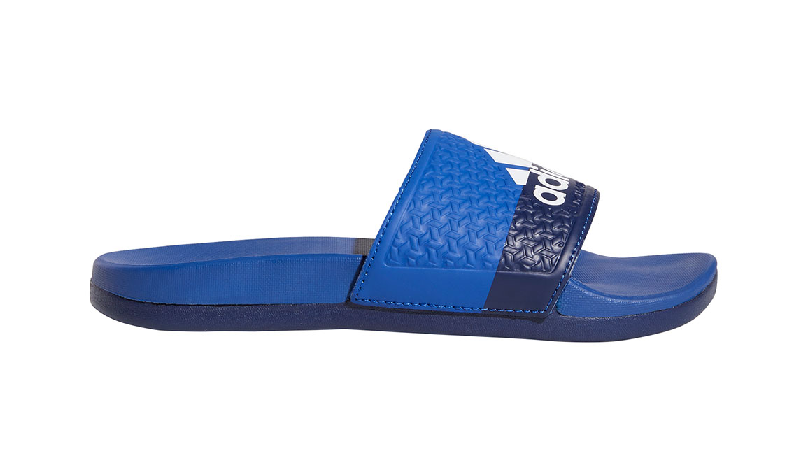 Kids Adidas Adilette Cloudfoam Plus Slides - Color: Royal/White/Blue (Regular Width) - Size: 1, Royal/White/Blue, large, image 1