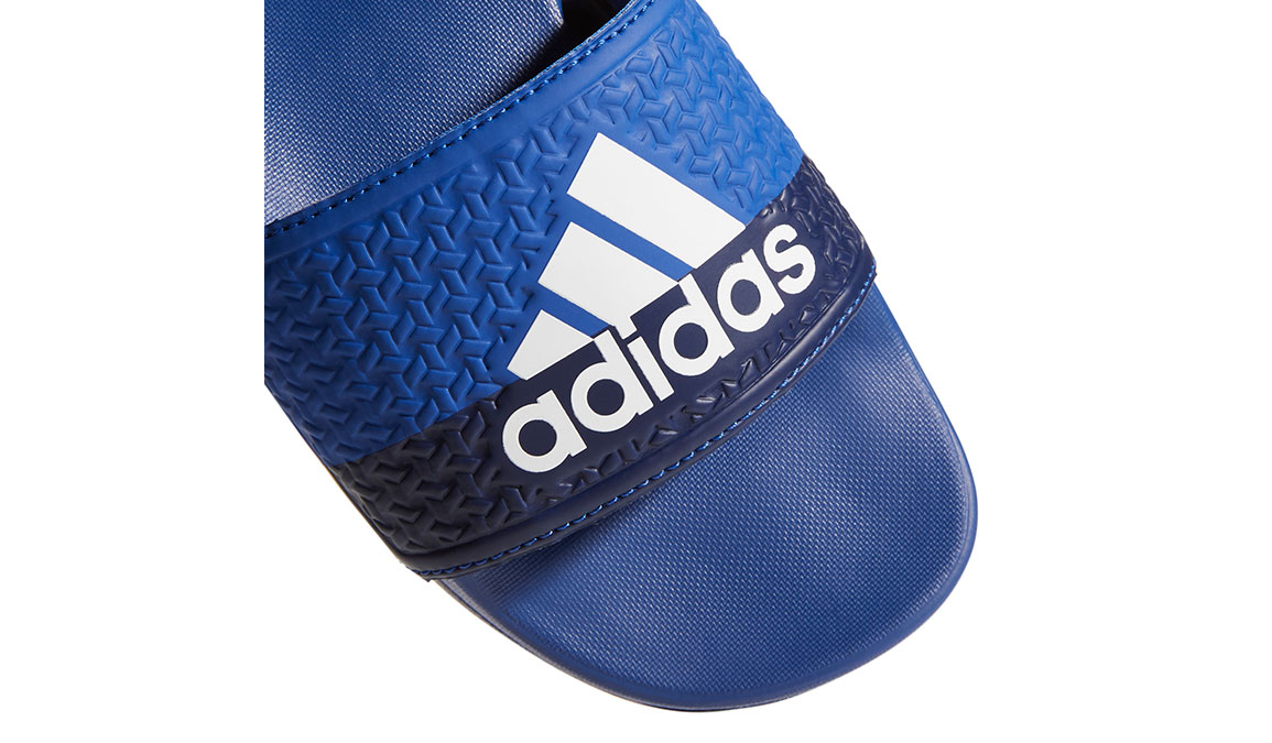 Kids Adidas Adilette Cloudfoam Plus Slides - Color: Royal/White/Blue (Regular Width) - Size: 1, Royal/White/Blue, large, image 3