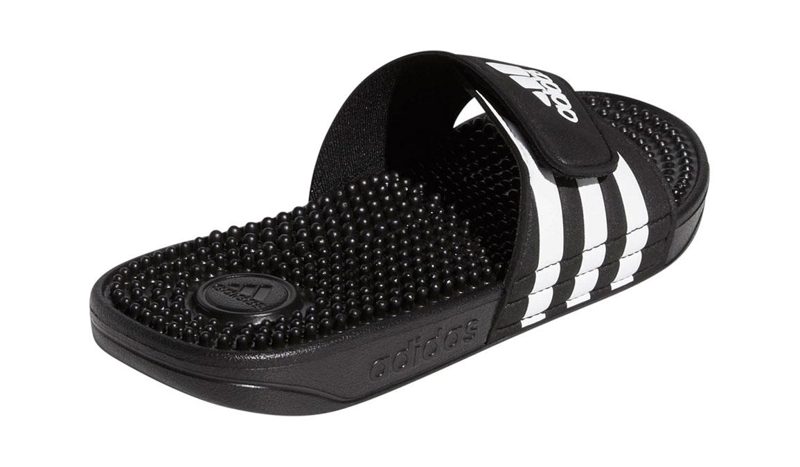 Kids Adidas Adissage Recovery Slides - Color: Black/White (Regular Width) - Size: 10, Black/White, large, image 3