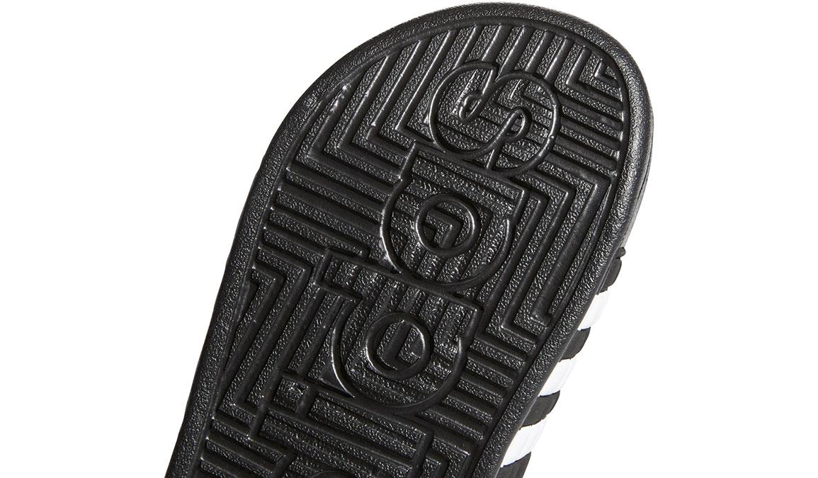 Kids Adidas Adissage Recovery Slides - Color: Black/White (Regular Width) - Size: 10, Black/White, large, image 4
