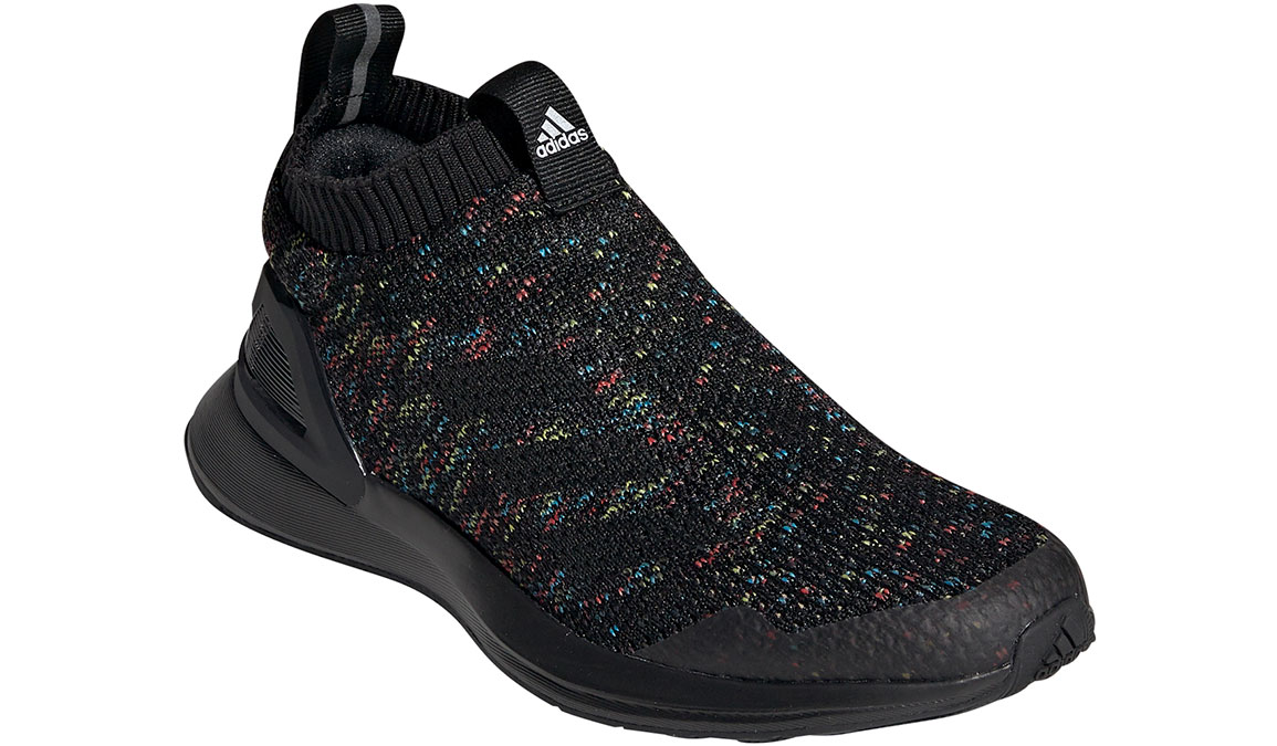 Kids Adidas Grade School RapidaRun Laceless KNIT - Color: Black/Active Red (Regular Width) - Size: 4, Black/Active Red, large, image 2