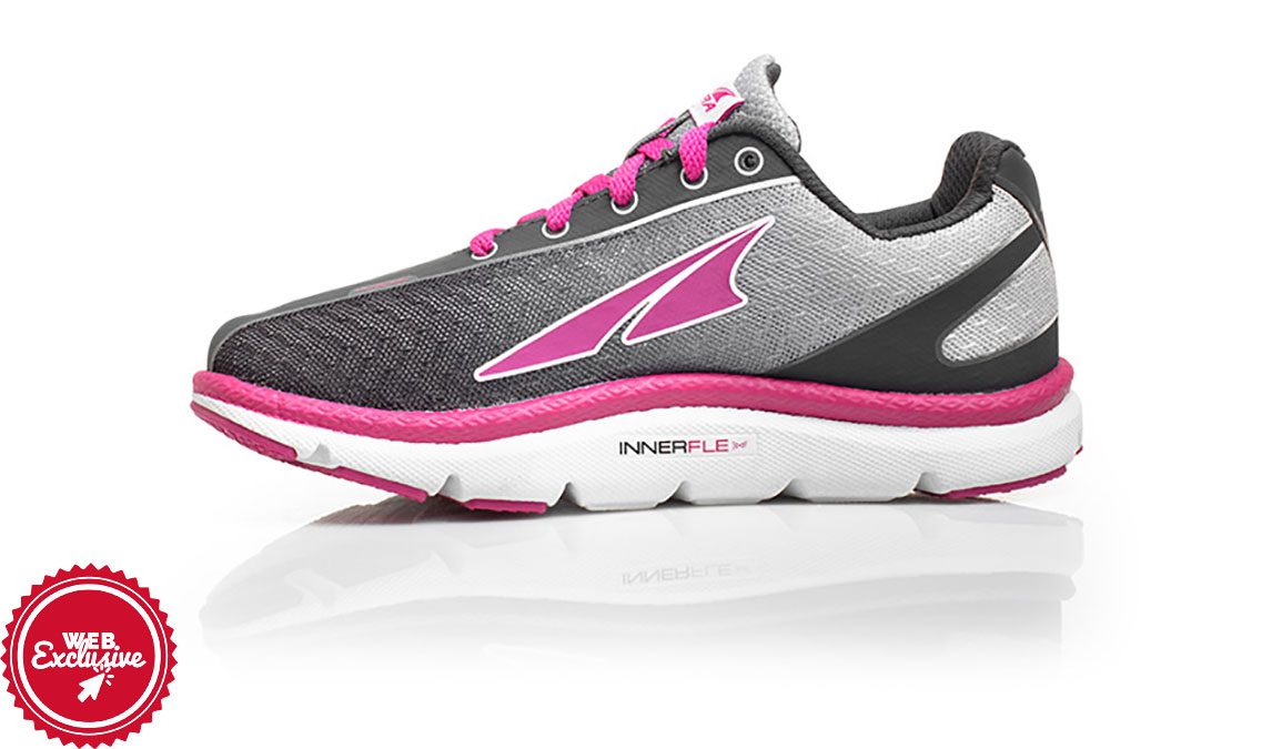 Kid's Altra One Jr Running Shoe - Color: Raspberry (Regular Width) - Size: 1, Raspberry, large, image 2