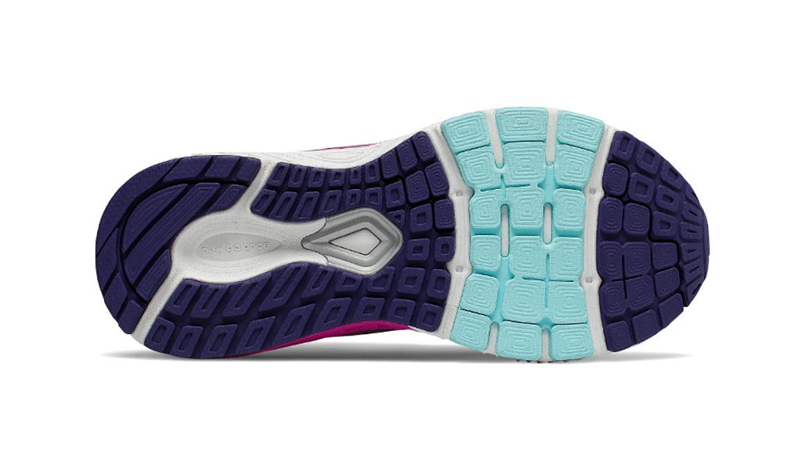 Kids New Balance Grade School 860v8 Running Shoe - Color: Navy/Poisonberry (Regular Width) - Size: 4.5, Navy/Pink, large, image 4