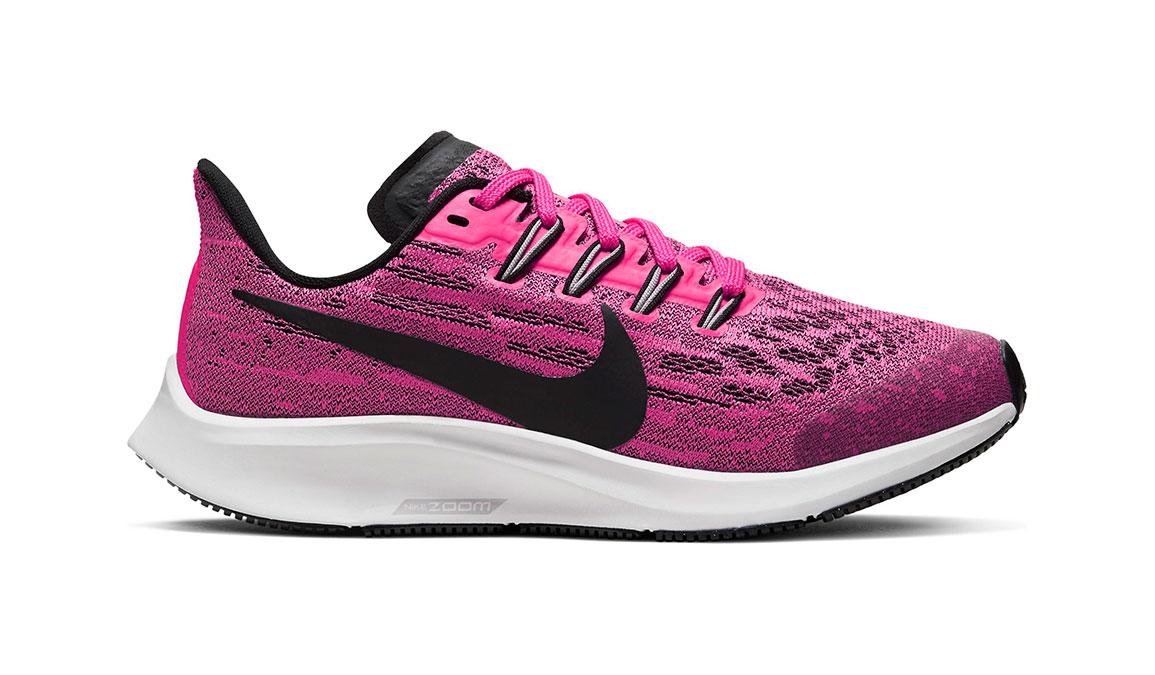 Kids Nike Grade School Air Zoom Pegasus 36 - Color: Pink Blast/Black (Regular Width) - Size: 1, Pink Blast/Black, large, image 1