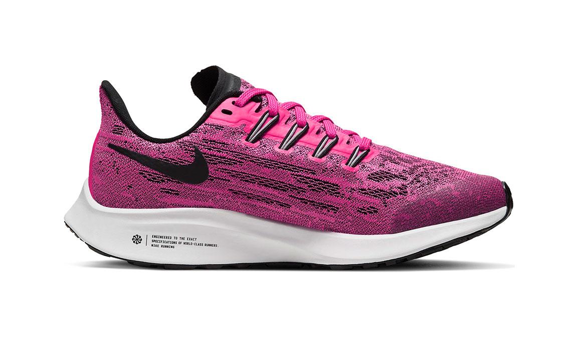 Kids Nike Grade School Air Zoom Pegasus 36 - Color: Pink Blast/Black (Regular Width) - Size: 1, Pink Blast/Black, large, image 2