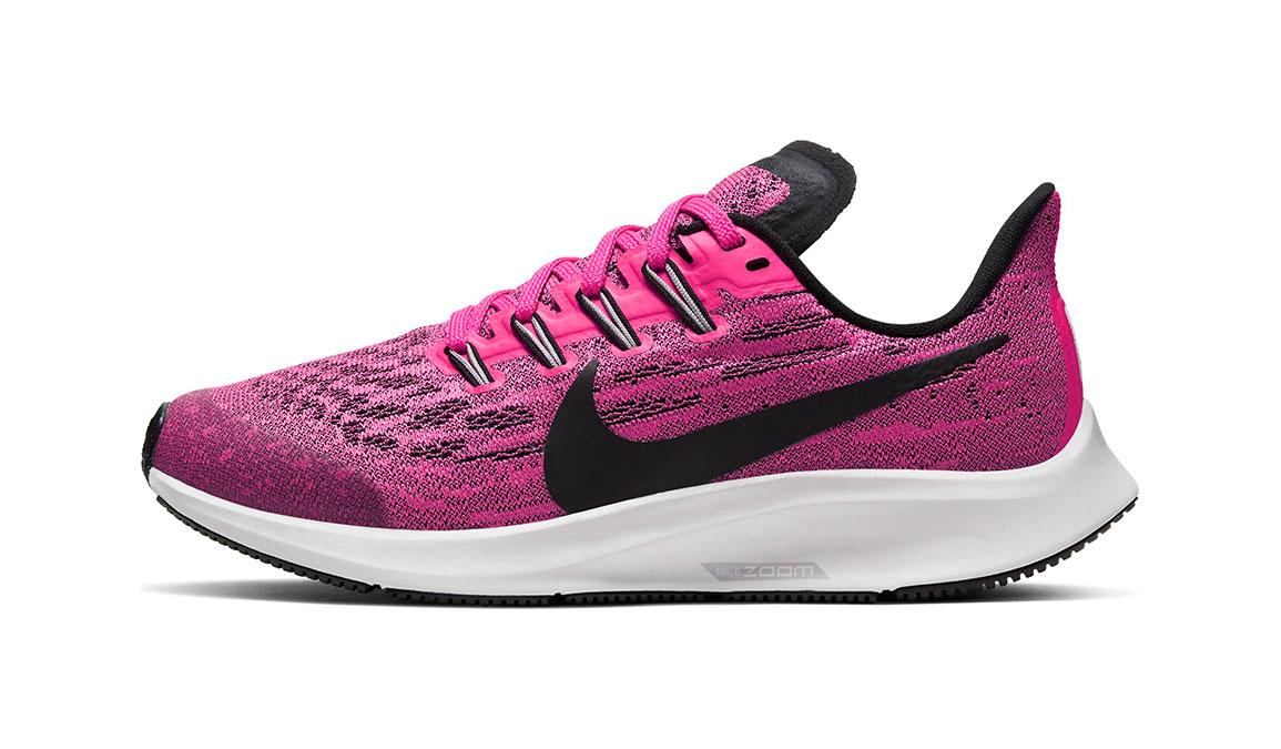 Kids Nike Grade School Air Zoom Pegasus 36 - Color: Pink Blast/Black (Regular Width) - Size: 1, Pink Blast/Black, large, image 3