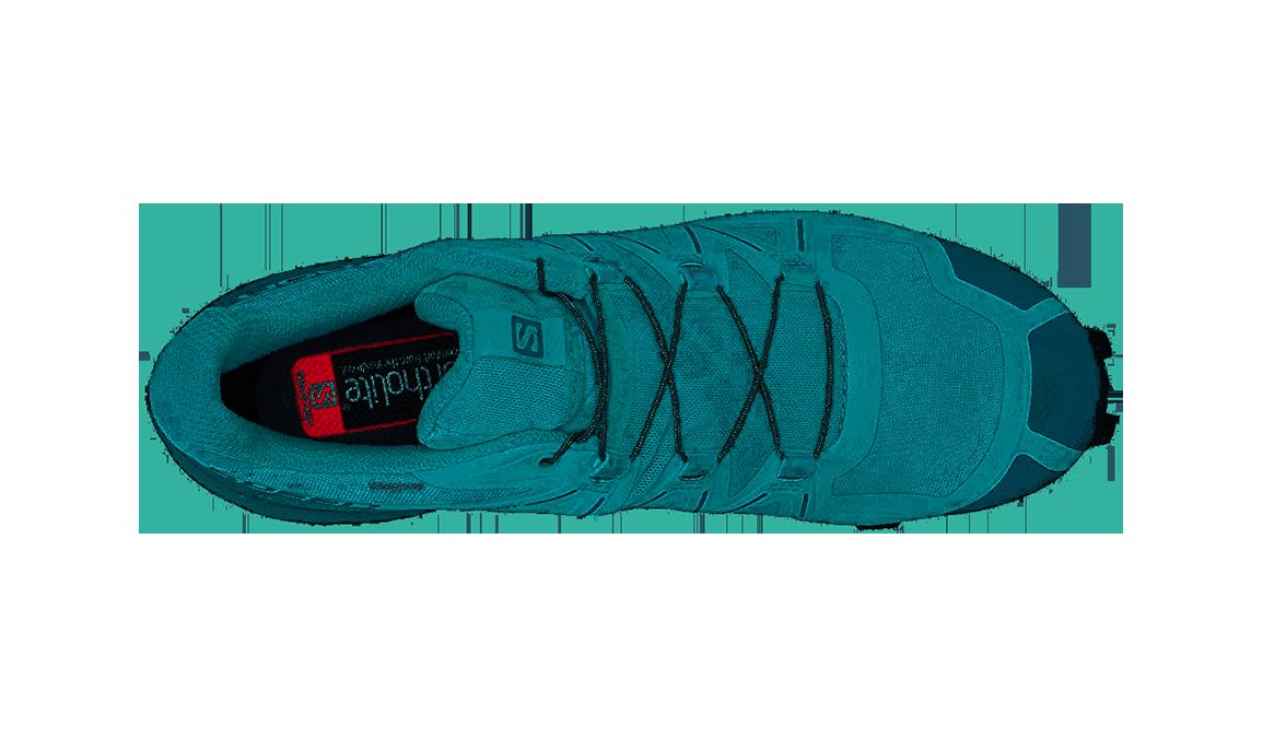 Women's Salomon Speedcross 5 Trail Running Shoe - Color: Icy Morn/Hydro/Green Gables (Regular Width) - Size: 5, Green, large, image 2