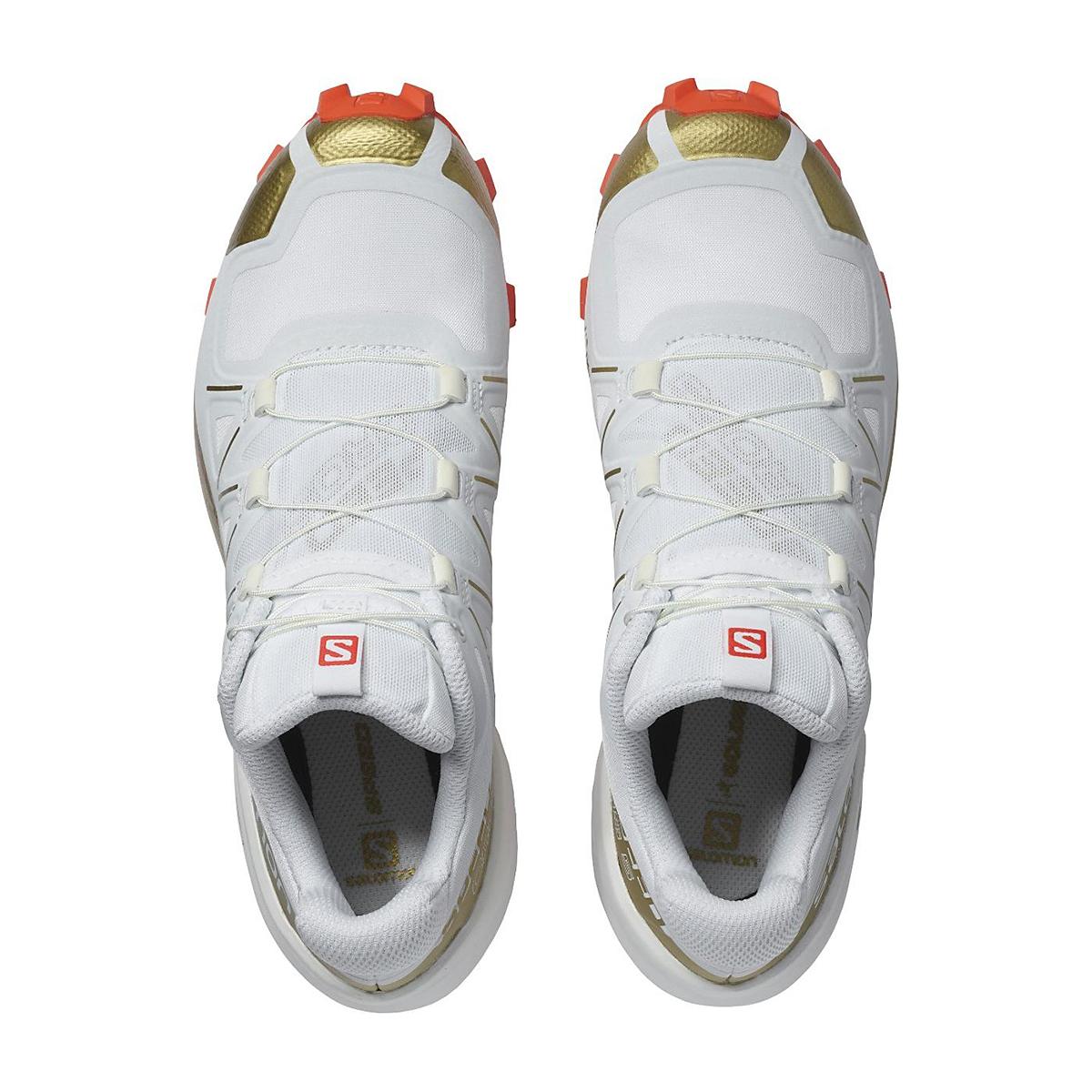 Women's Salomon Speedcross 5 Trail Running Shoe - Color: White/White - Size: 5 - Width: Regular, White/White, large, image 2