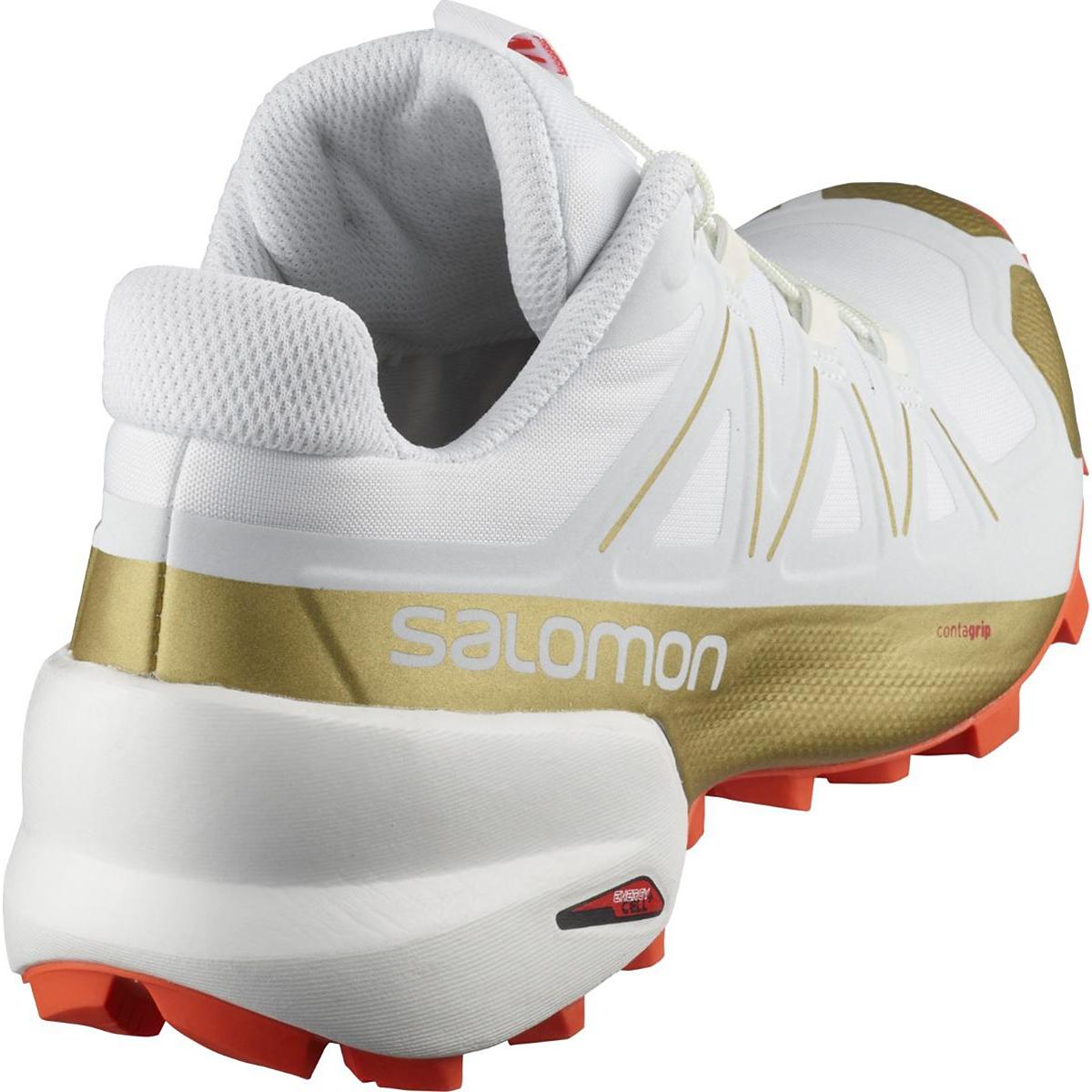 Women's Salomon Speedcross 5 Trail Running Shoe - Color: White/White - Size: 5 - Width: Regular, White/White, large, image 4