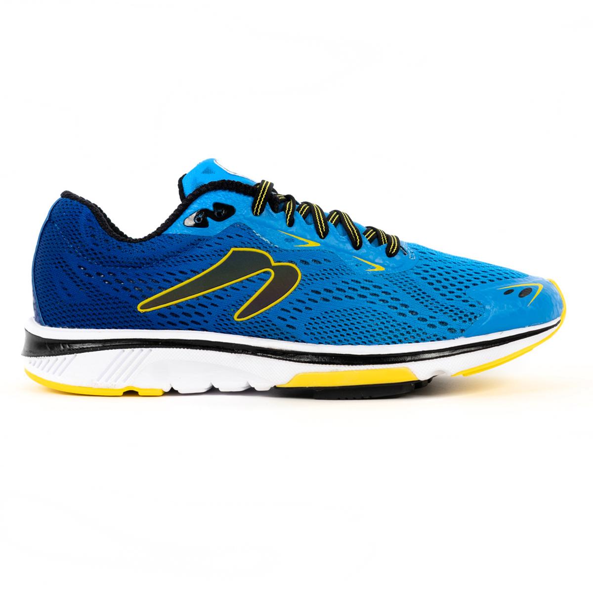 Men's Newton Gravity 9 Running Shoe - Color: Navy/Citron (Regular Width) - Size: 6, Navy/Citron, large, image 1
