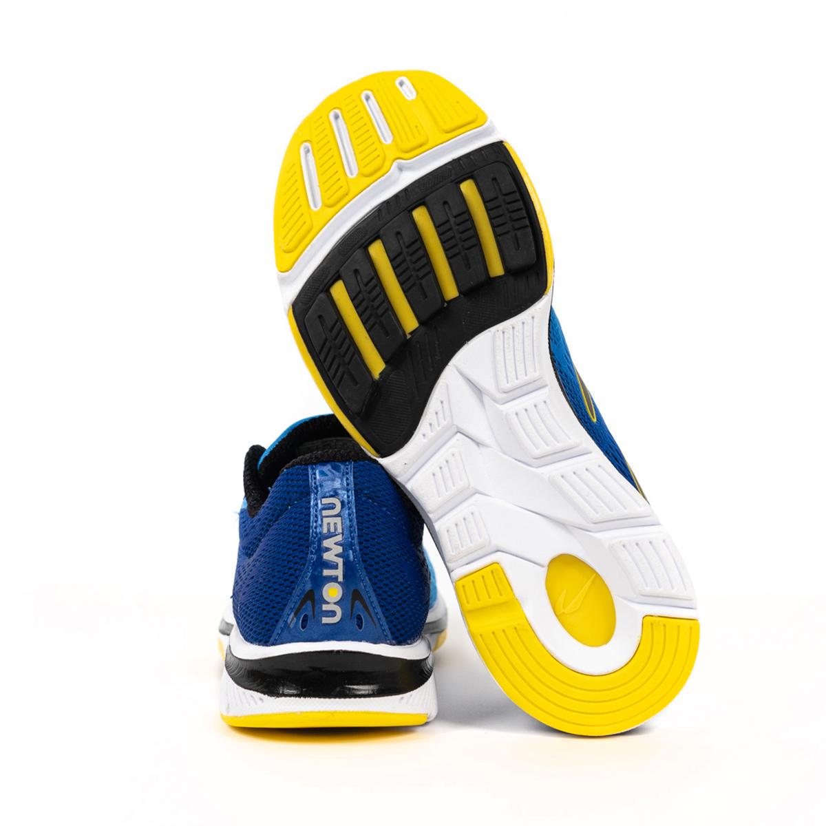 Men's Newton Gravity 9 Running Shoe - Color: Navy/Citron (Regular Width) - Size: 6, Navy/Citron, large, image 2