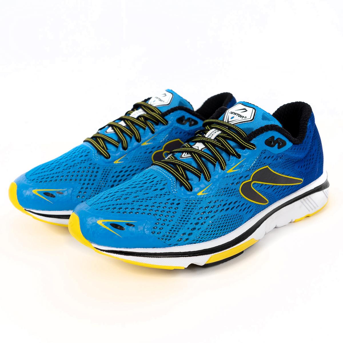 Men's Newton Gravity 9 Running Shoe - Color: Navy/Citron (Regular Width) - Size: 6, Navy/Citron, large, image 3