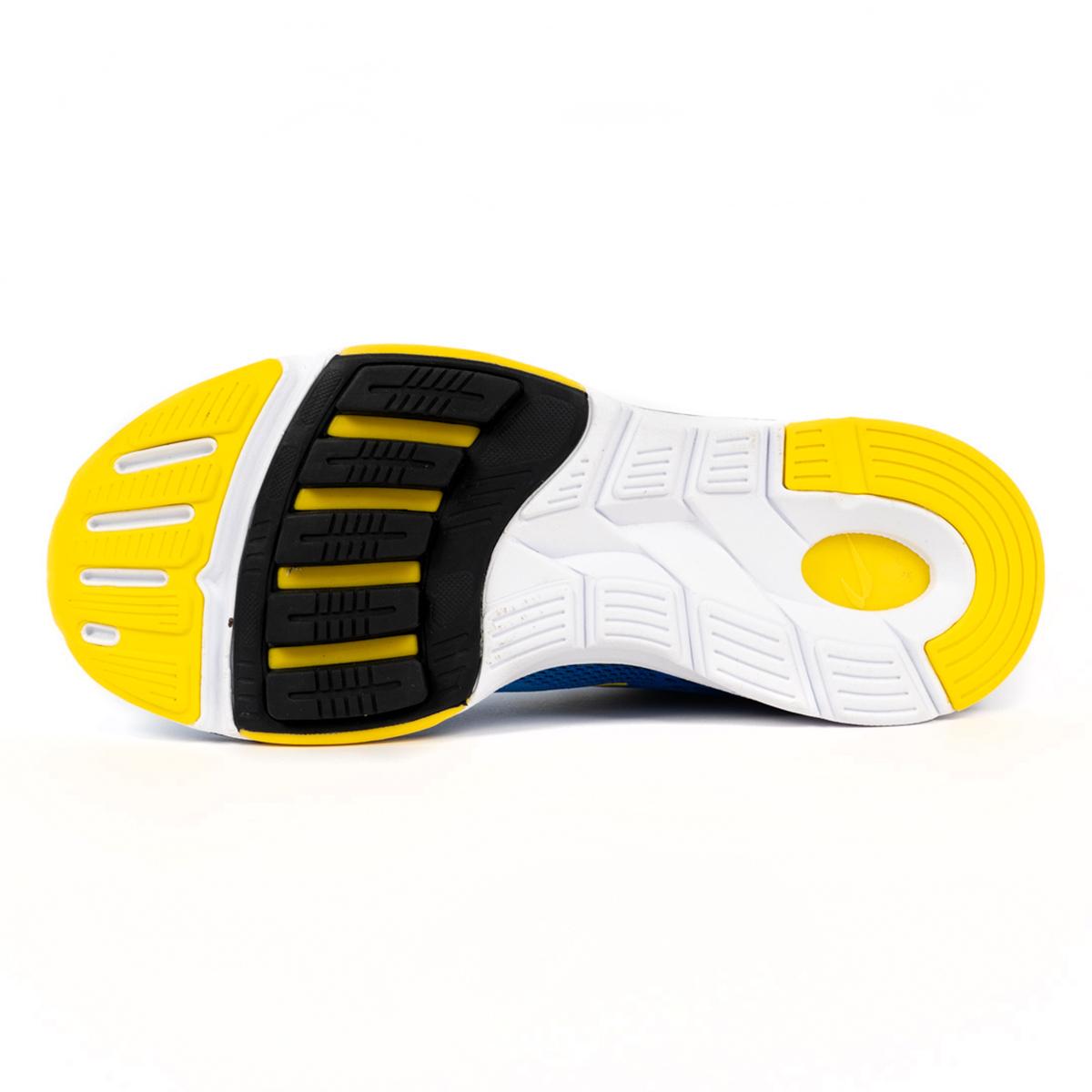 Men's Newton Gravity 9 Running Shoe - Color: Navy/Citron (Regular Width) - Size: 6, Navy/Citron, large, image 4