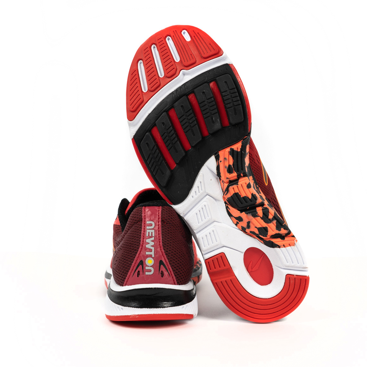 Men's Newton Motion 9 Running Shoe - Color: Brick/Orange (Regular Width) - Size: 6, Brick/Orange, large, image 2