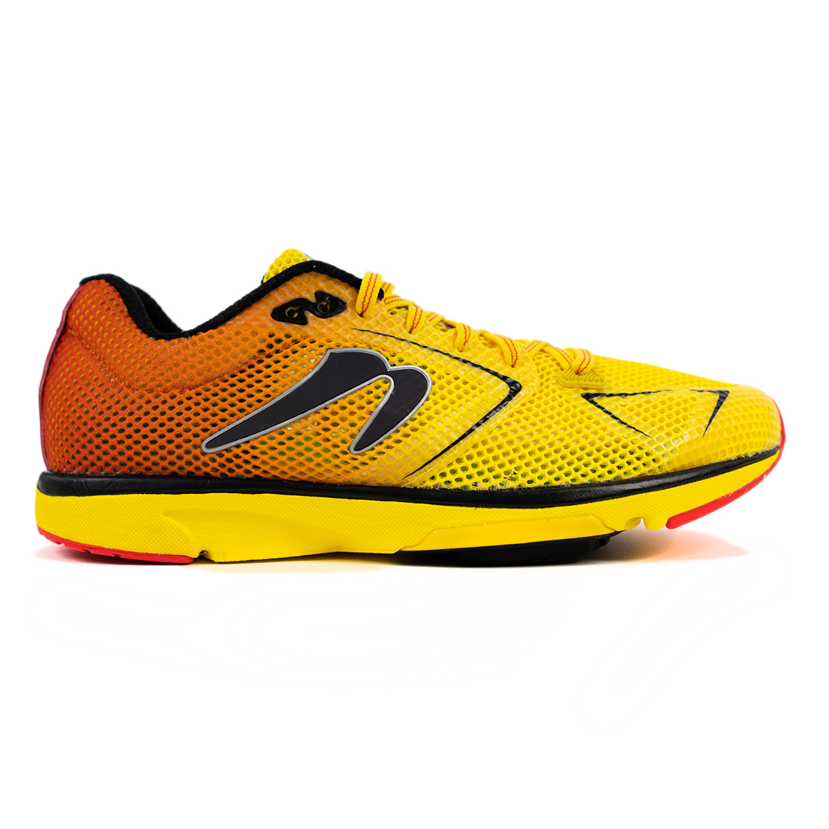 Men's Newton Distance 9 Running Shoe - Color: Sunfire/Black (Regular Width) - Size: 6, Sunfire/Black, large, image 1