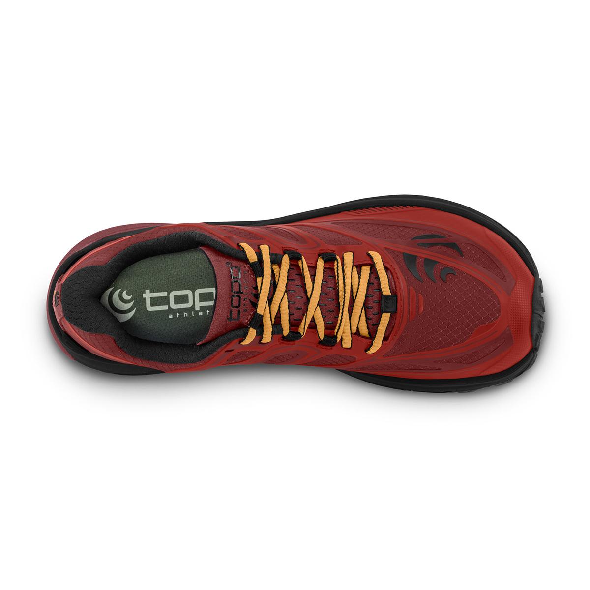 Men's Topo Athletic Mountain Racer Trail Running Shoe - Color: Red/Orange - Size: 9.5 - Width: Regular, Red/Orange, large, image 4