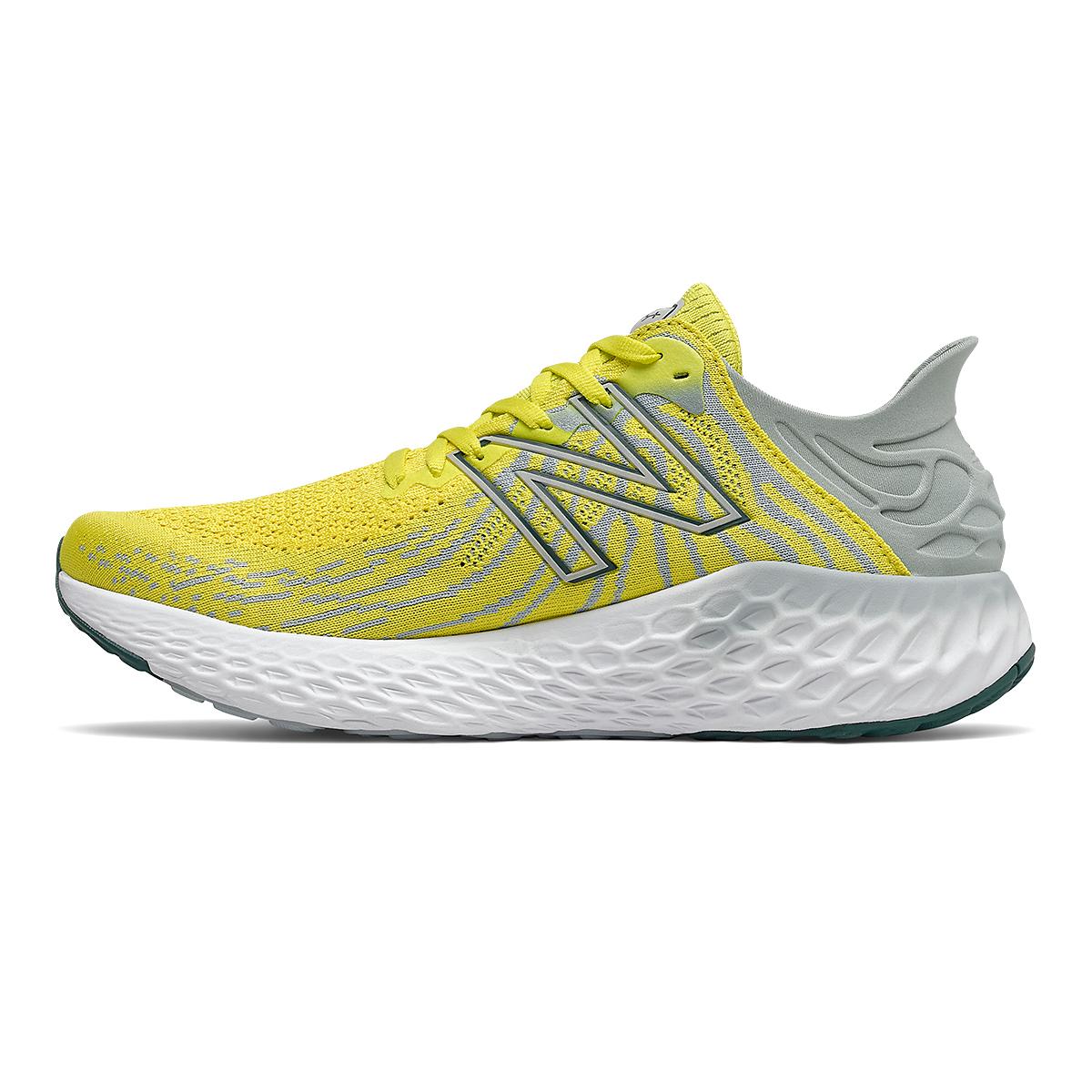Men's New Balance 1080v11 Running Shoe - Color: Sulphur Yellow/Light Slate - Size: 6 - Width: Wide, Sulphur Yellow/Light Slate, large, image 2