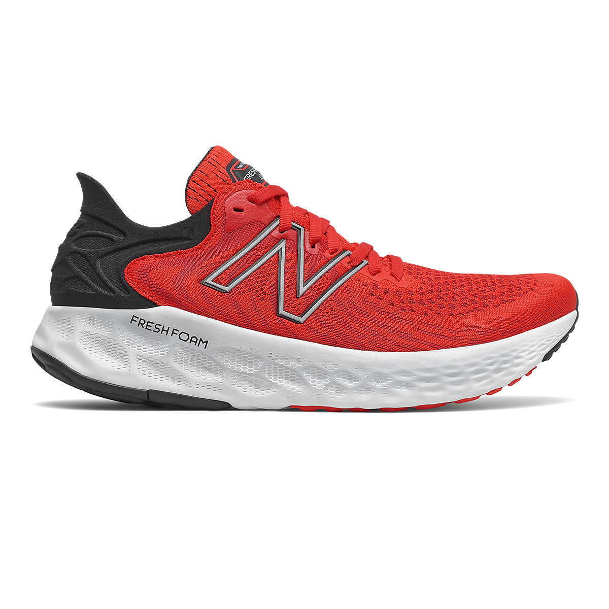 Men's New Balance 1080v11 Running Shoe - Color: Velocity Red/Black - Size: 7 - Width: Wide, Velocity Red/Black, large, image 1