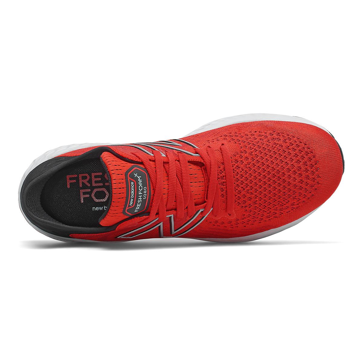 Men's New Balance 1080v11 Running Shoe - Color: Velocity Red/Black - Size: 7 - Width: Wide, Velocity Red/Black, large, image 4