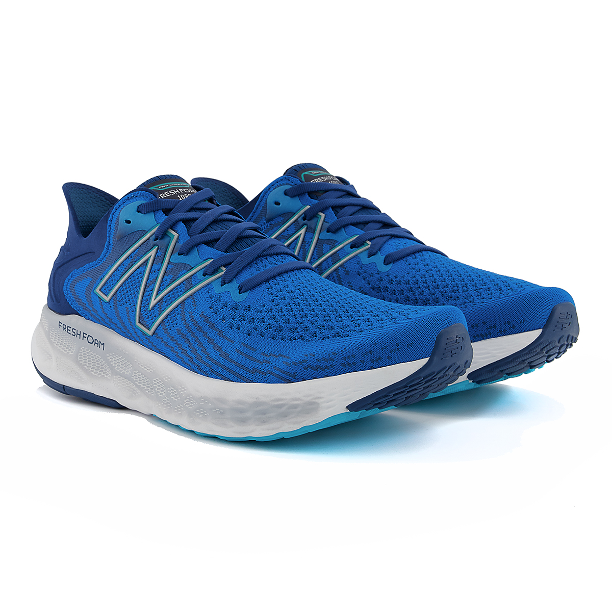 Men's New Balance Fresh Foam 1080v11 Running Shoe - Color: Wave/Light Rogue Wave - Size: 6 - Width: Wide, Wave/Light Rogue Wave, large, image 3