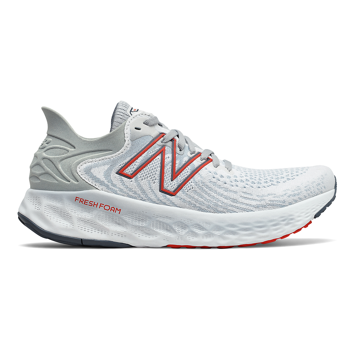 Men's New Balance 1080v11 Running Shoe - Color: White/Ghost Pepper - Size: 7 - Width: Wide, White/Ghost Pepper, large, image 1