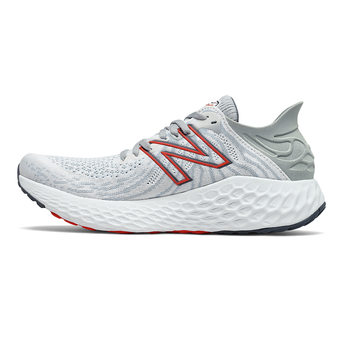 Men's New Balance 1080v11 Running Shoe - Color: White/Ghost Pepper - Size: 7 - Width: Wide, White/Ghost Pepper, large, image 2