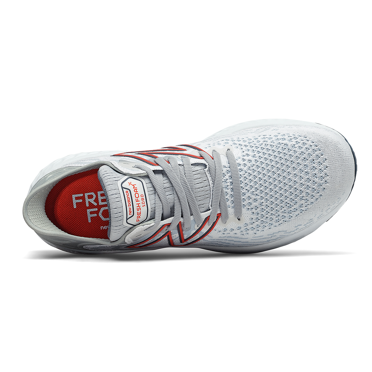Men's New Balance 1080v11 Running Shoe - Color: White/Ghost Pepper - Size: 7 - Width: Wide, White/Ghost Pepper, large, image 4