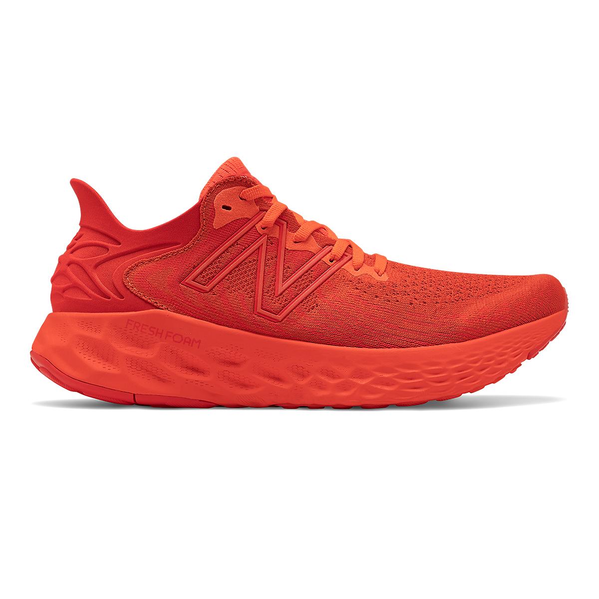 Men's New Balance Fresh Foam 1080V11 Running Shoe - Color: Ghost Pepper/Velocity Red - Size: 6 - Width: Wide, Ghost Pepper/Velocity Red, large, image 1