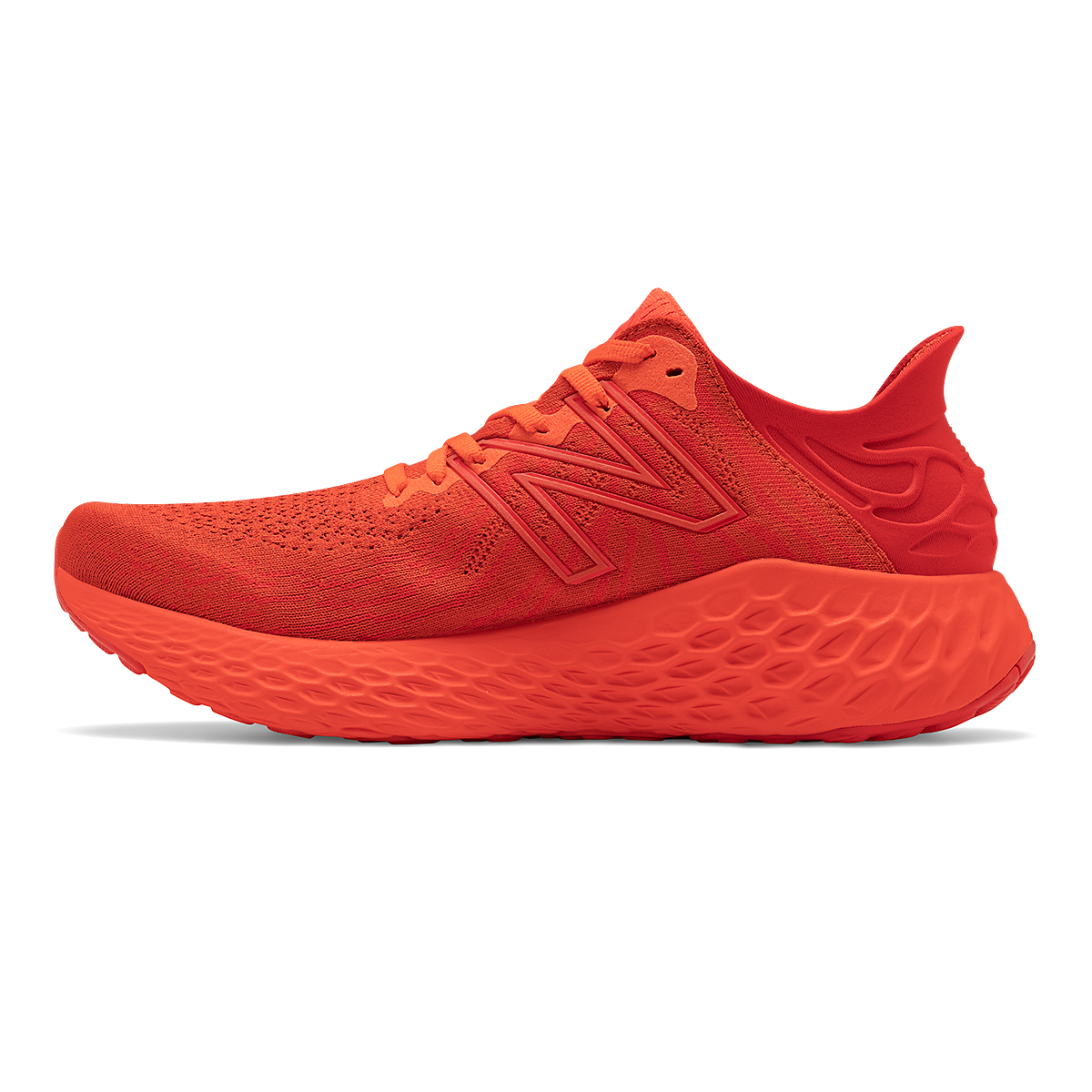 Men's New Balance Fresh Foam 1080V11 Running Shoe - Color: Ghost Pepper/Velocity Red - Size: 6 - Width: Wide, Ghost Pepper/Velocity Red, large, image 2