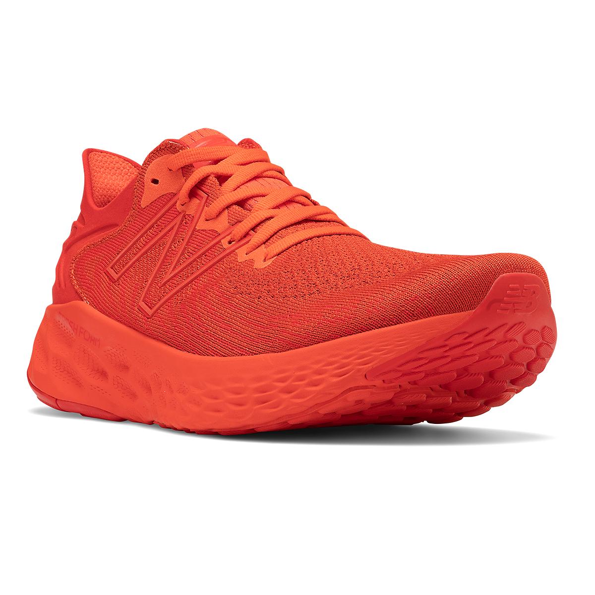 Men's New Balance Fresh Foam 1080V11 Running Shoe - Color: Ghost Pepper/Velocity Red - Size: 6 - Width: Wide, Ghost Pepper/Velocity Red, large, image 3