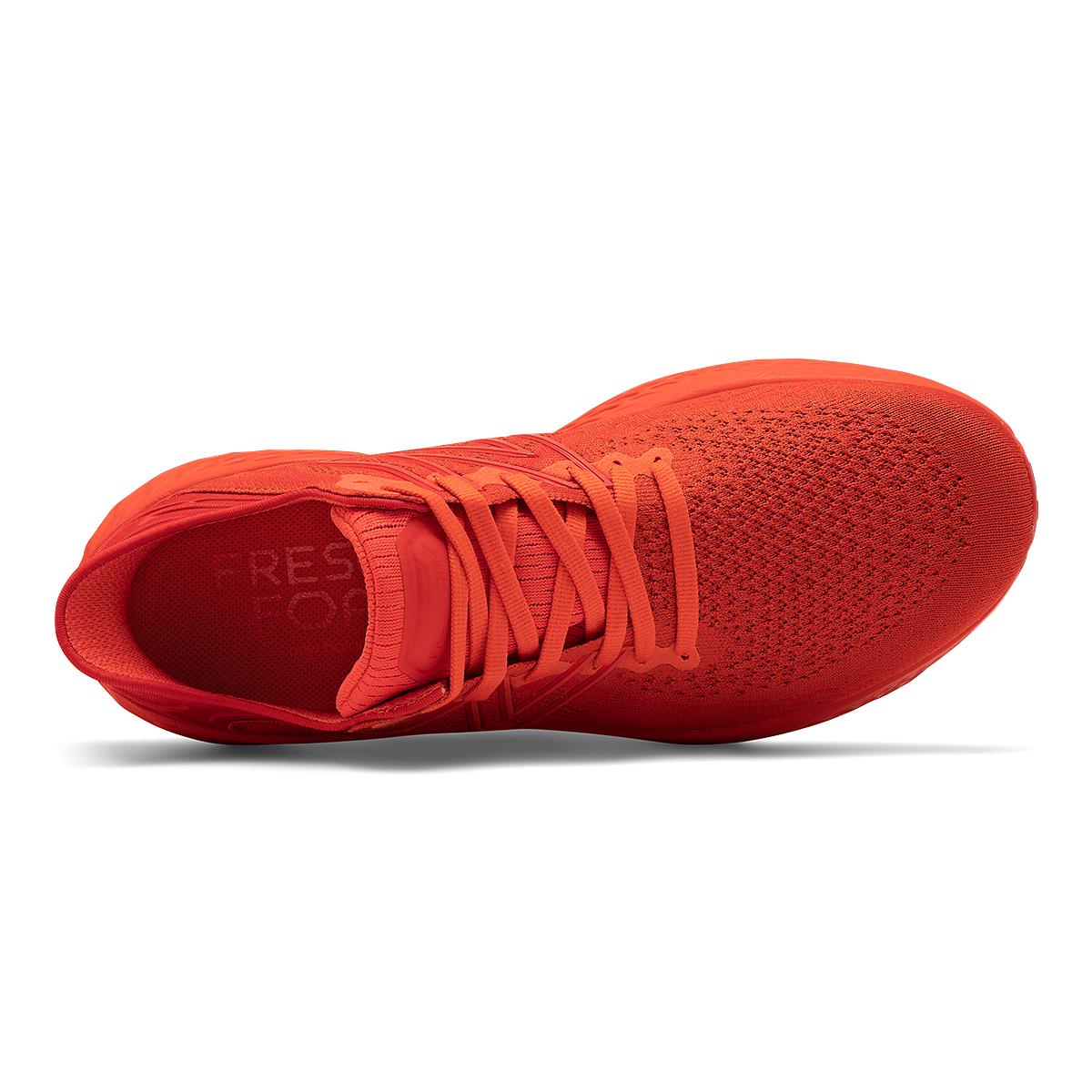 Men's New Balance Fresh Foam 1080V11 Running Shoe - Color: Ghost Pepper/Velocity Red - Size: 6 - Width: Wide, Ghost Pepper/Velocity Red, large, image 4