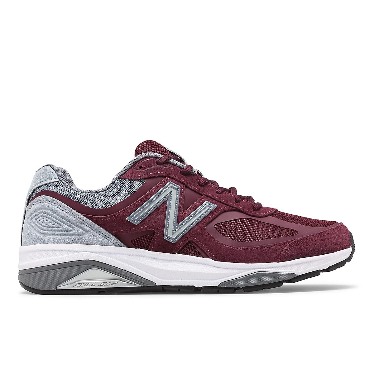 Men's New Balance 1540V3 Walking Shoe - Color: Burgundy - Size: 7 - Width: Wide, Burgundy, large, image 1