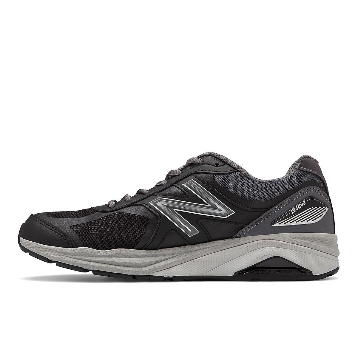 Men's New Balance 1540V3 Walking Shoe - Color: Black - Size: 7 - Width: Wide, Black, large, image 2
