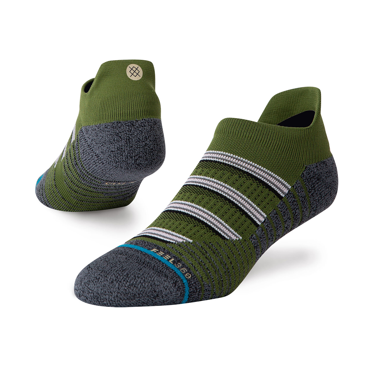 Men's Stance Combat Tab Socks - Color: Green - Size: M, Green, large, image 1