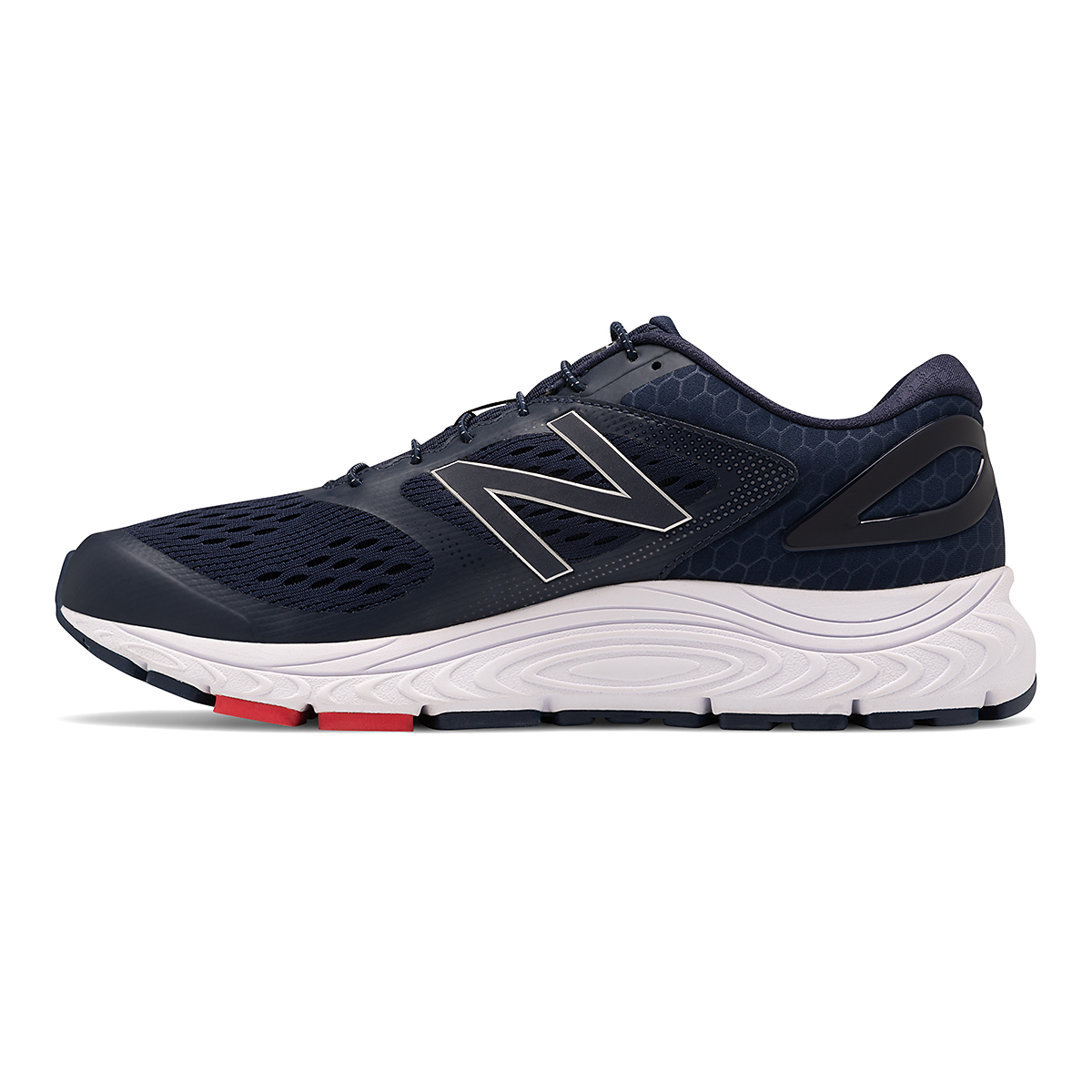 Men's New Balance 840v4 Running Shoe - Color: Pigment/White - Size: 7 - Width: Wide, Pigment/White, large, image 2