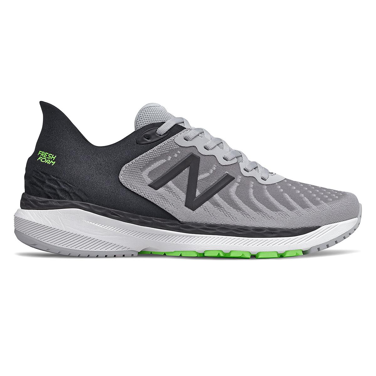 Men's New Balance 860V11 Running Shoe - Color: Light Aluminum/Black - Size: 6 - Width: Wide, Light Aluminum/Black, large, image 1