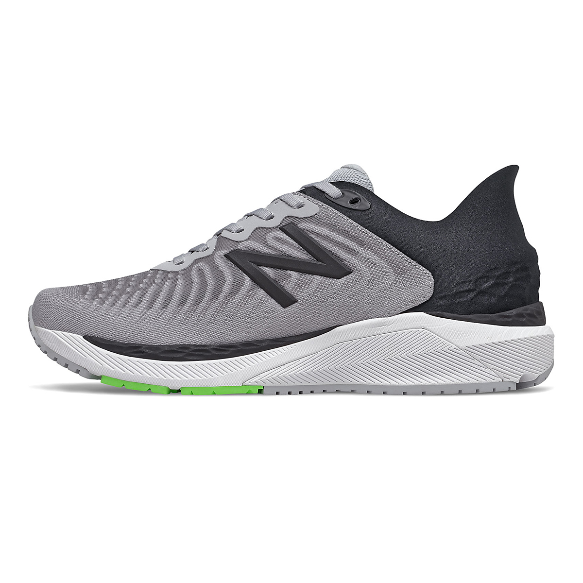 Men's New Balance 860V11 Running Shoe - Color: Light Aluminum/Black - Size: 6 - Width: Wide, Light Aluminum/Black, large, image 2
