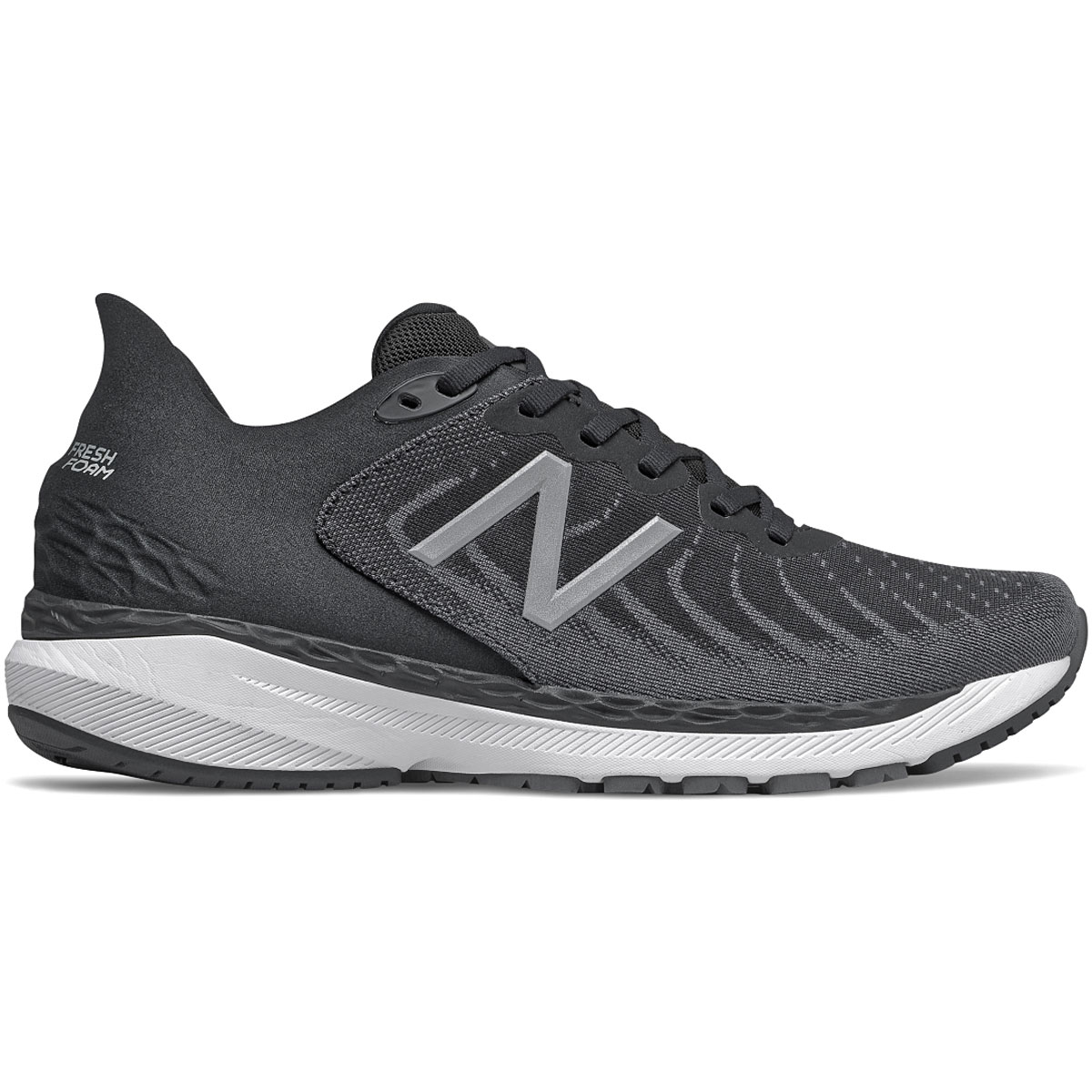 Men's New Balance 860V11 Running Shoe - Color: Black/White/Phantom - Size: 7 - Width: Wide, Black/White/Phantom, large, image 1